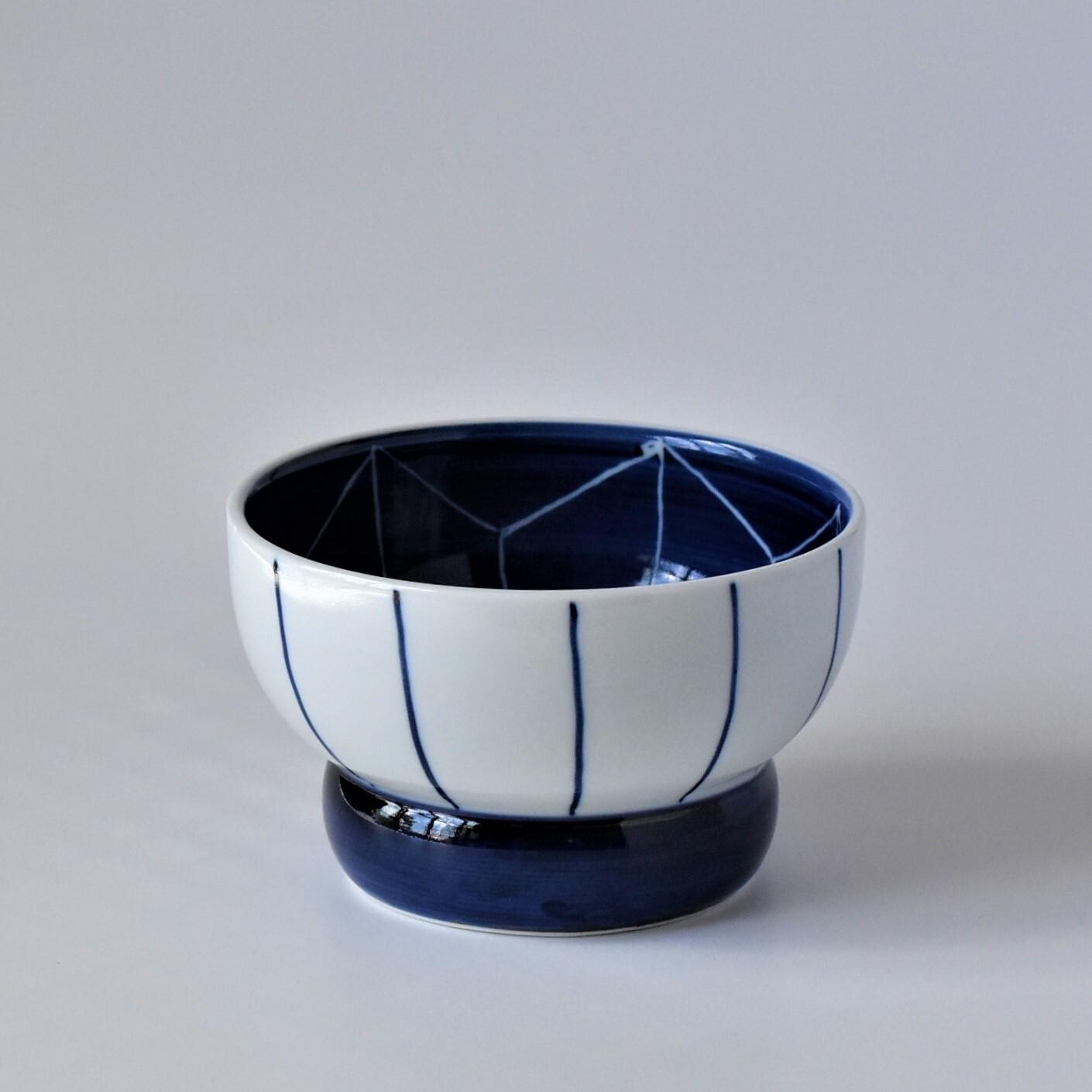 有田焼【まどか】 ロータイプ(水用) 麻の葉文様(あさのはもんよう)製造:江口製陶所