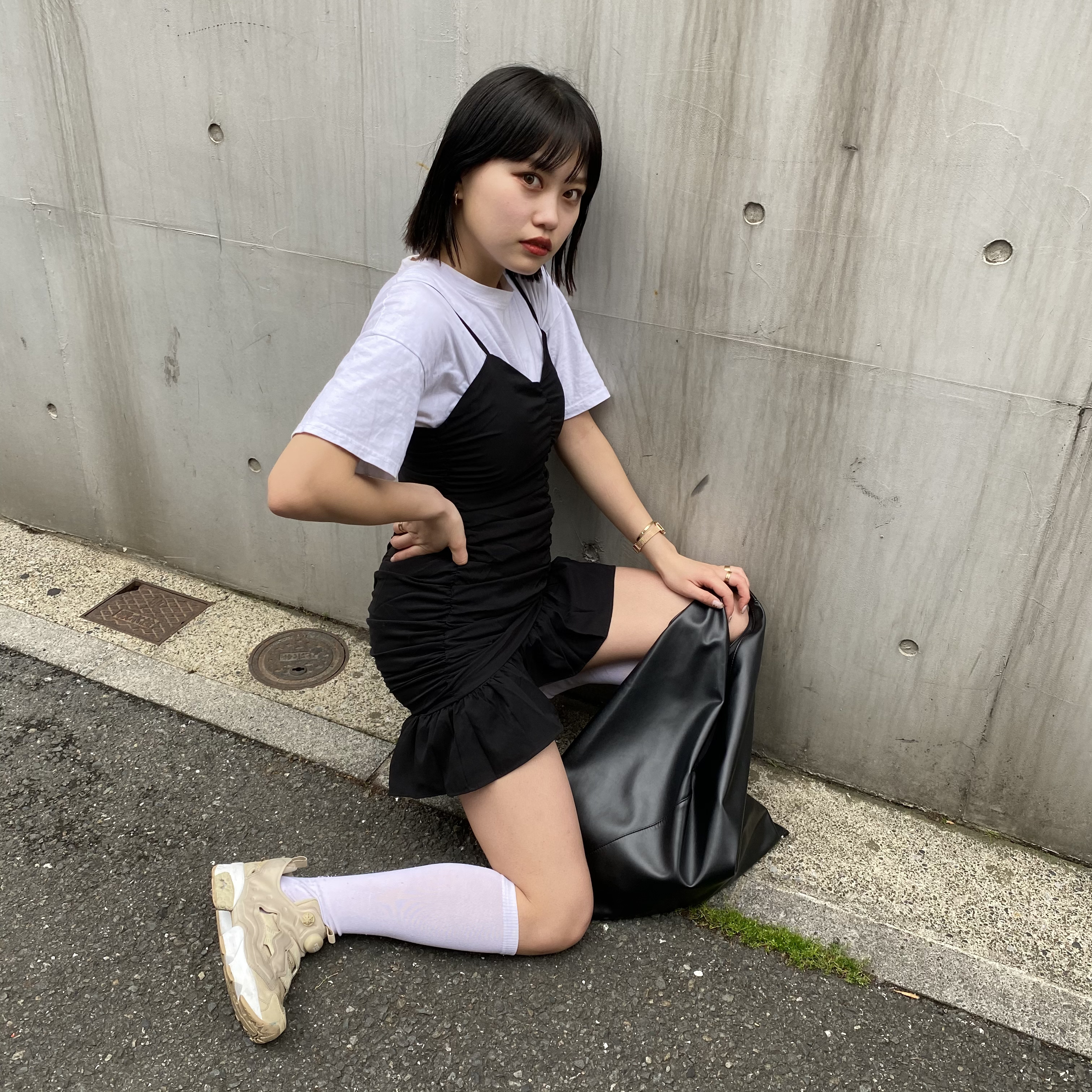 【Belle】LAST1 shirring tight onepiece