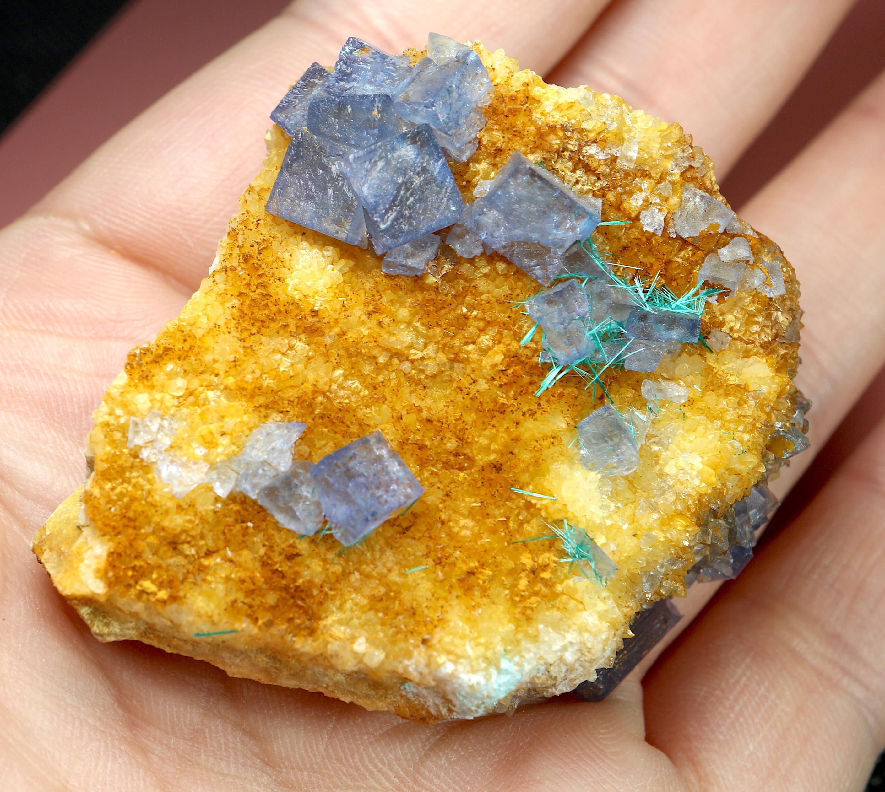 蛍石 + ブロシャン銅鉱 ニューメキシコ州産 原石 50,3g FL107 鉱物 原石 天然石 パワーストーン