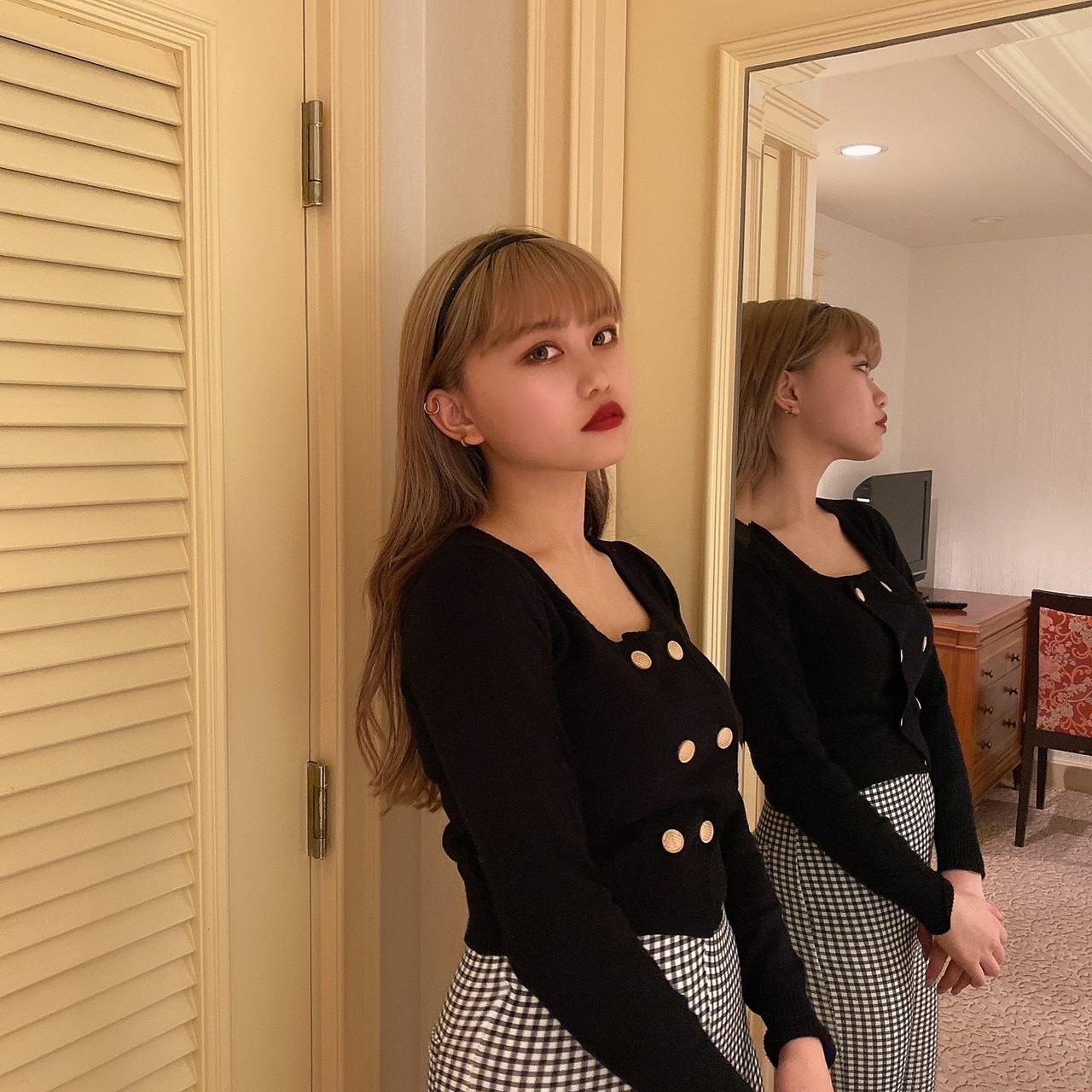 【Belle jour】square neck knit cardigan