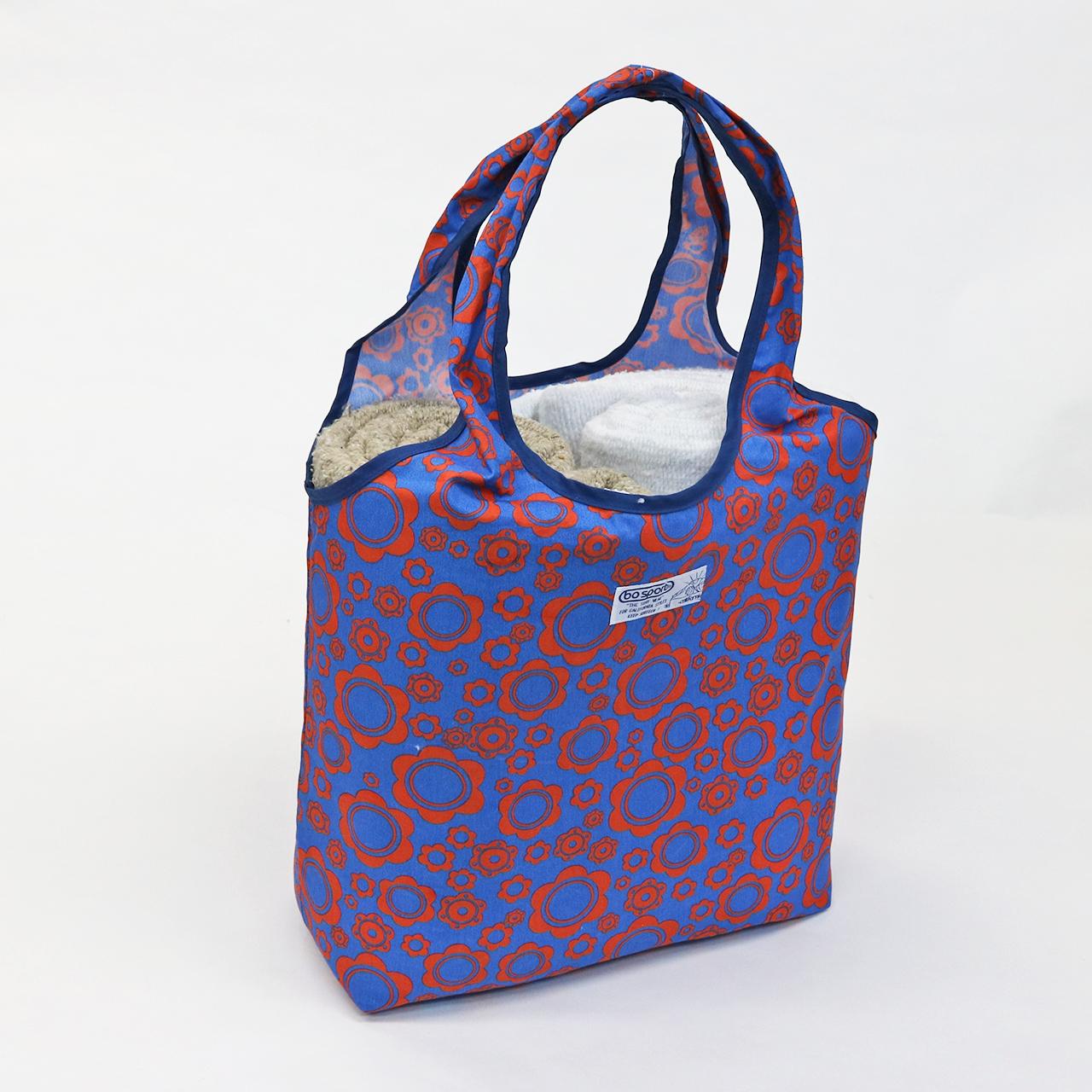 BO SPORT California Fabric Eco Bag (Blue x Red)