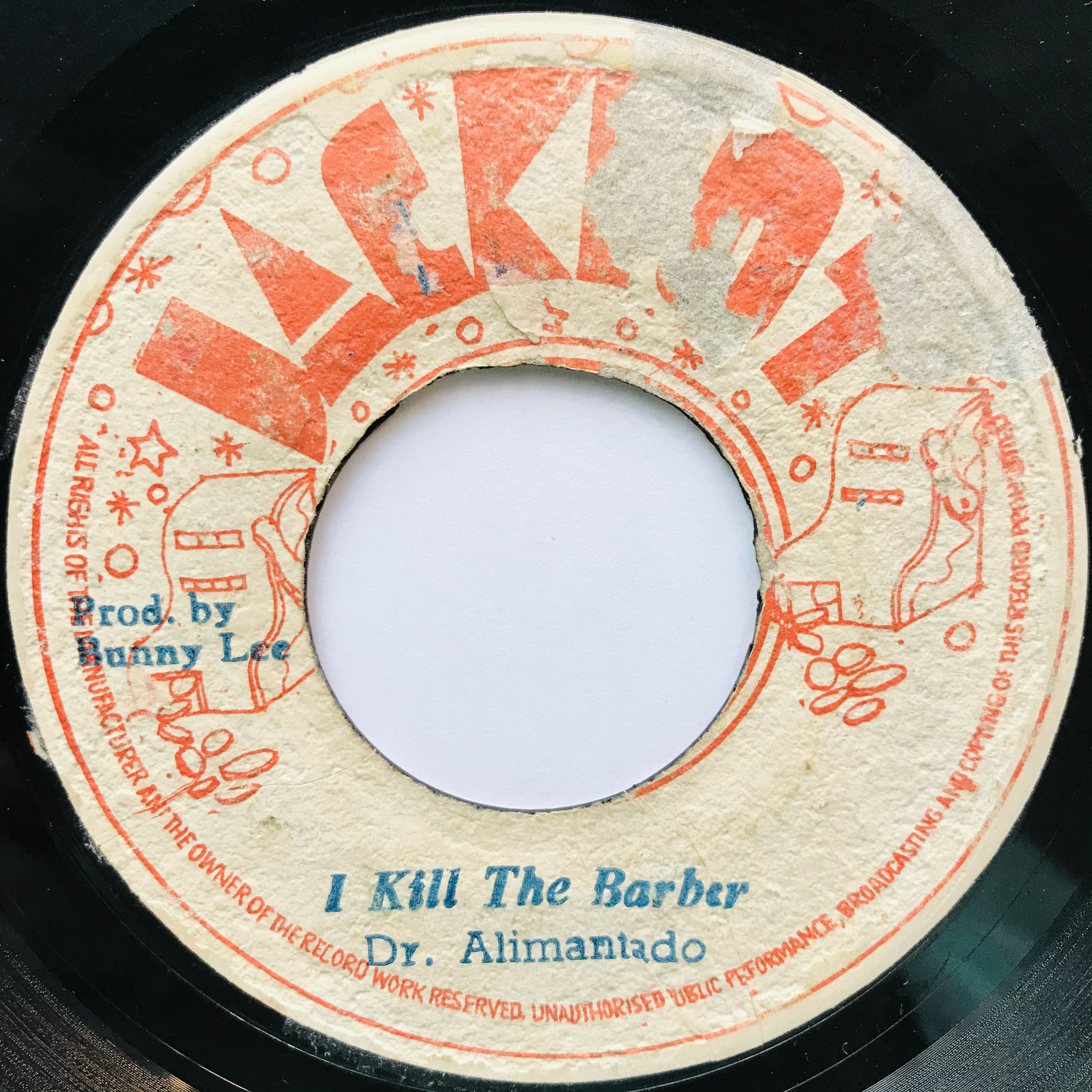 Dr.Alimantado - I Kill The Barber【7-11043】