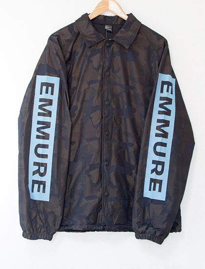 【EMMURE】Cult Circle High-Low Coach Jacket (Camo)