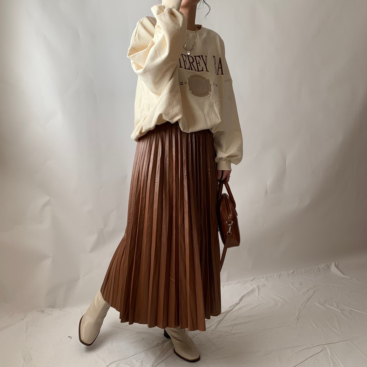 【asyu】eco leather skirt