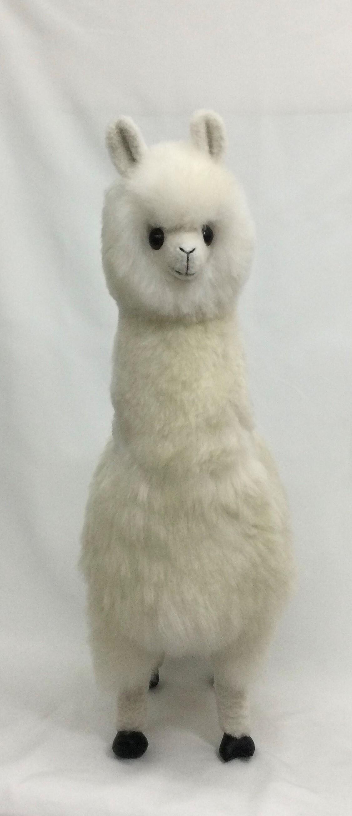 プレミアムアルパカ人形 84cm 白
