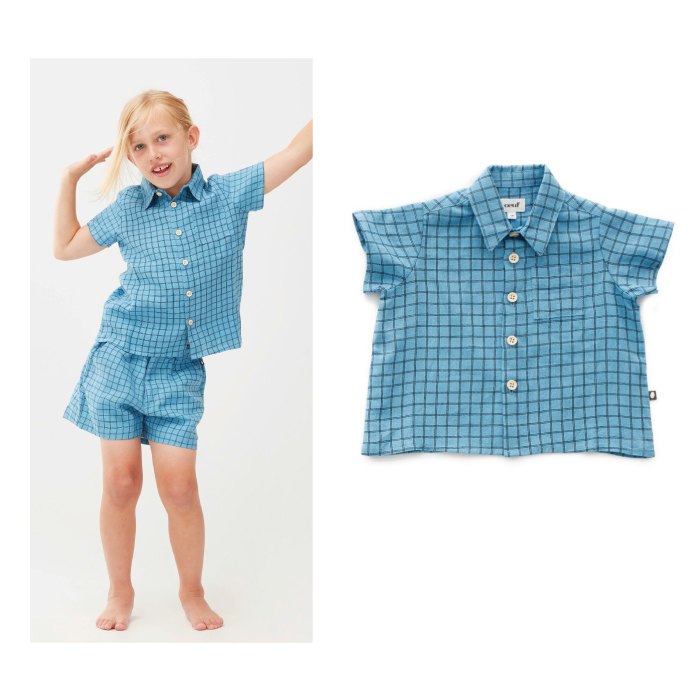 Oeuf button down shire (4Y)