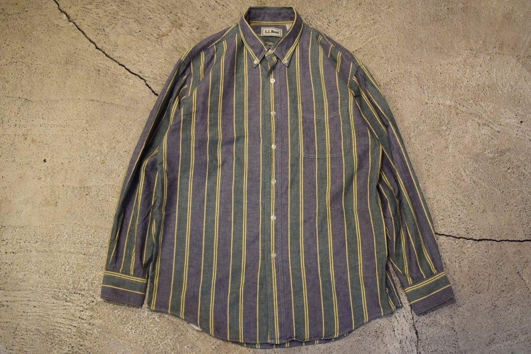 USED 90s L.L.Bean L/S Shirt -Medium S0624