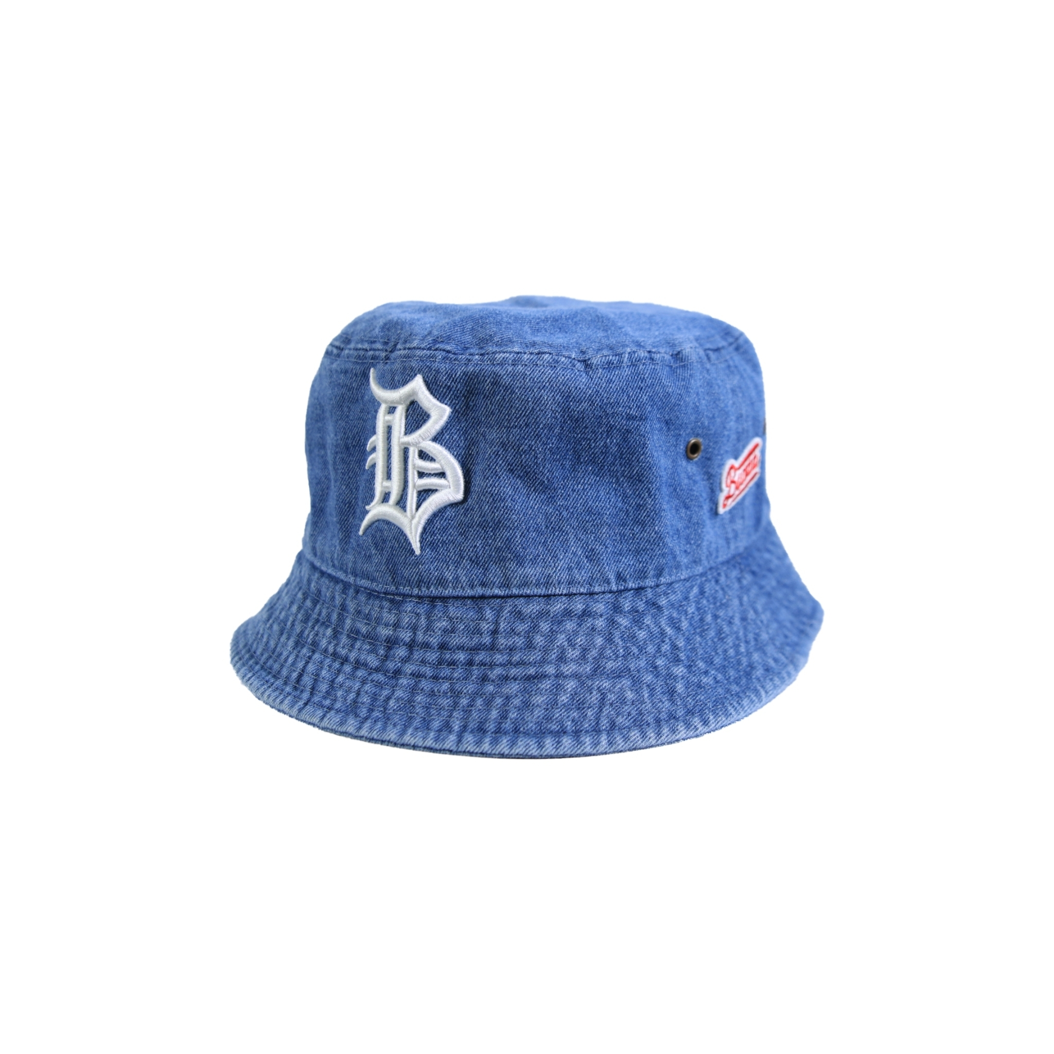 "OL""D""-B- DENIM BUCKET HAT [WASHED x WHITE]"