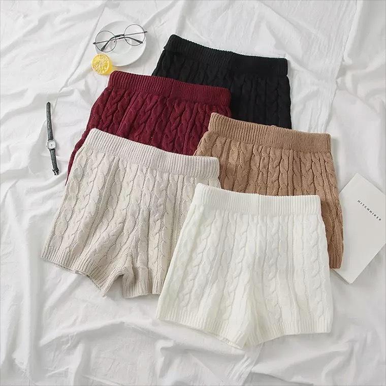 knit pants 4color