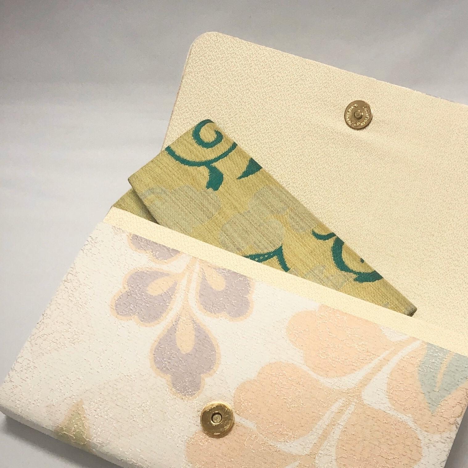 簡易財布(西陣織・桜と菊柄/蓄光紙)