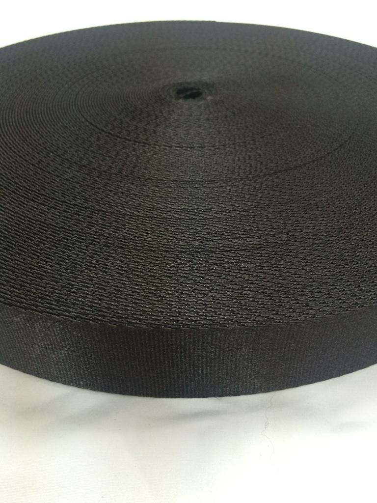 ナイロン サテン調 朱子織 38㎜幅 カラー 50m巻