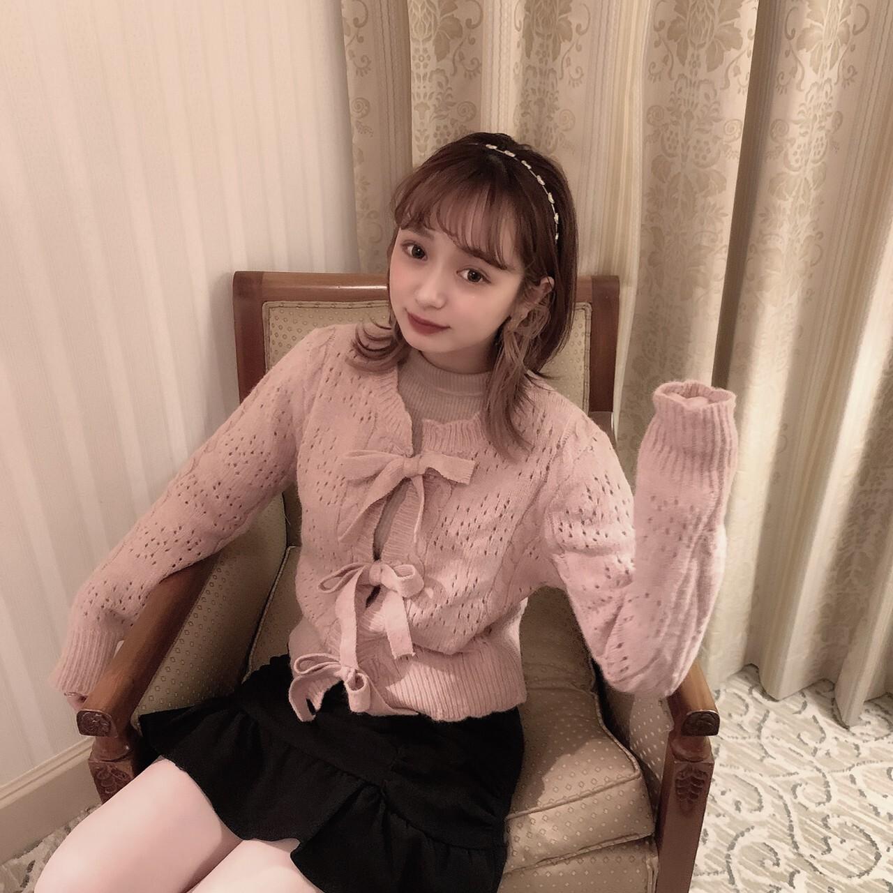 【meltie】ribbon knit cardigan