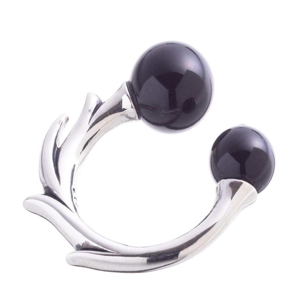 オニキスボールイヤーカフ ACE0152 Onyx ball ear cuff 【「貴族誕生 -PRINCE OF LEGEND-」衣装協力商品】