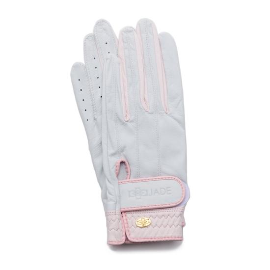 Elegant Golf Glove white-pink