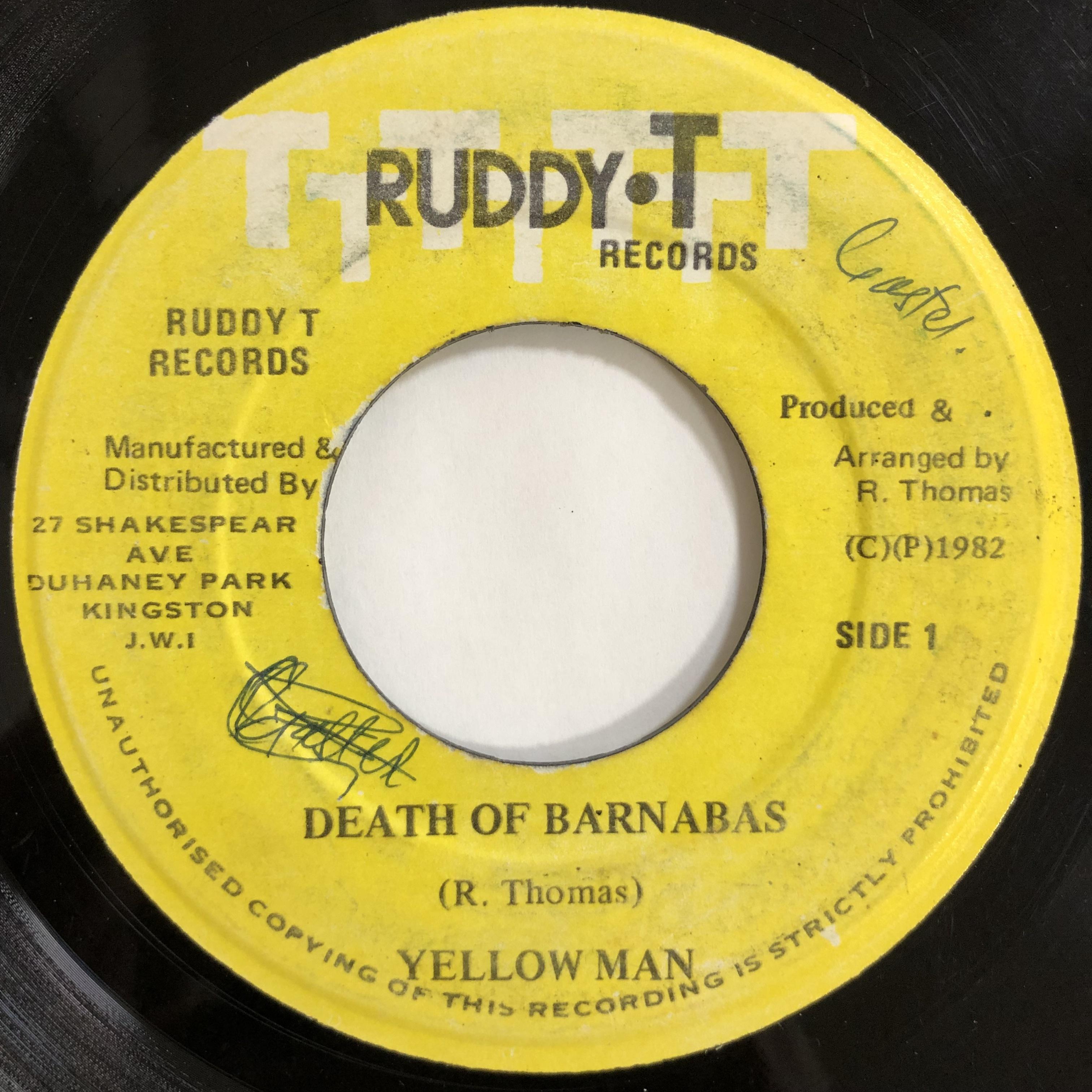 Yellowman(イエローマン) - Death Of Barnabas【7-20057】