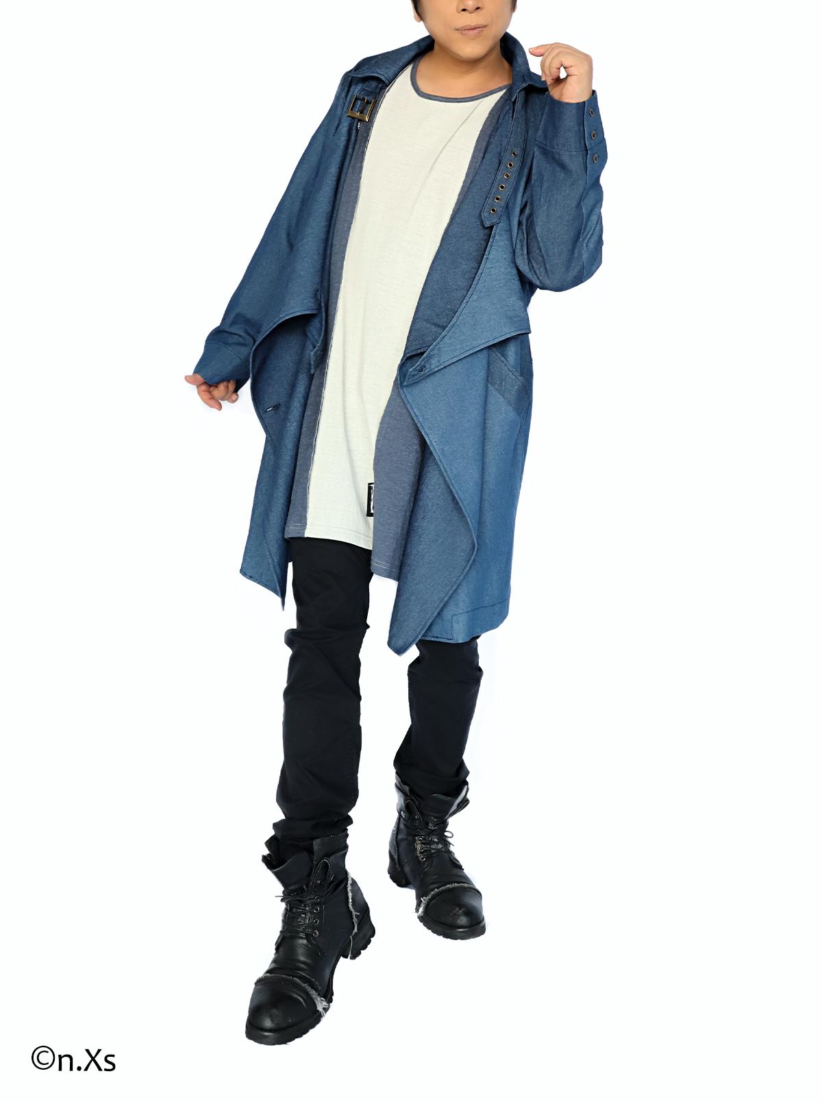 バーリアストレンチコート (デニムモード)BLUE