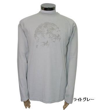PE-702M秋冬メンズロングラグランスリーブTシャツ(ライトグレー)
