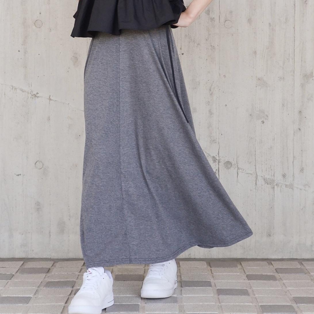 フレアマキシスカート/GY