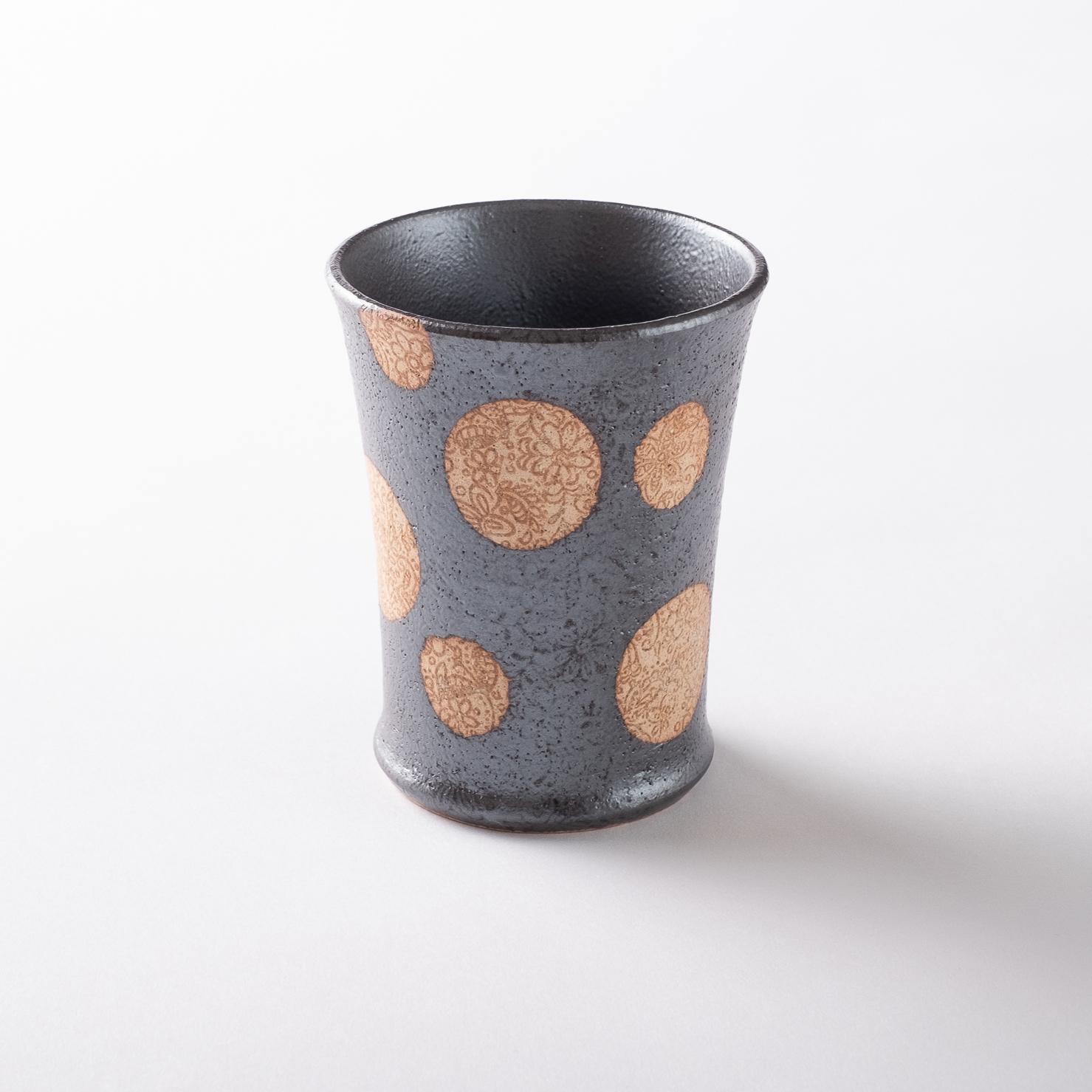 【美濃焼】焼酎カップ「SARASA  L 黒」