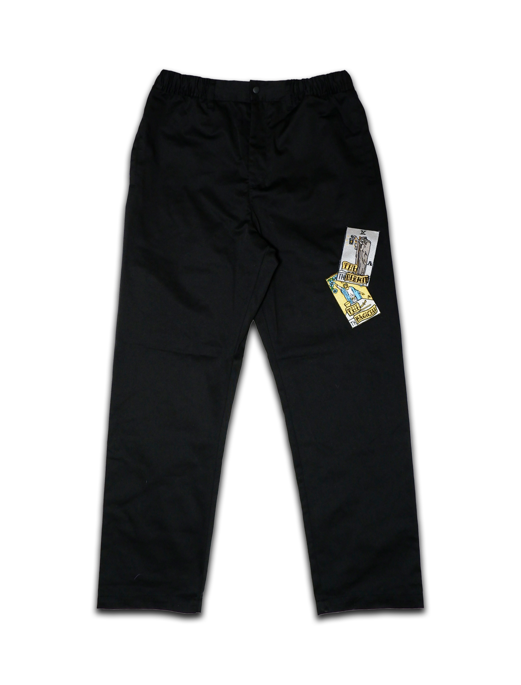 1&9 WIDE WORK PANTS black