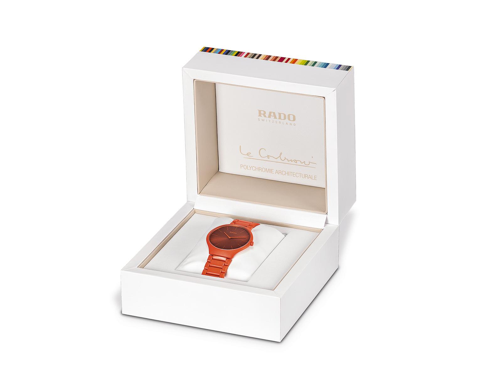 【RADO ラドー】True Thinline Les Couleurs™ Le Corbusier  Powerful orange 4320S シンライン ル・コルビュジエ(オレンジ)/国内正規品 腕時計