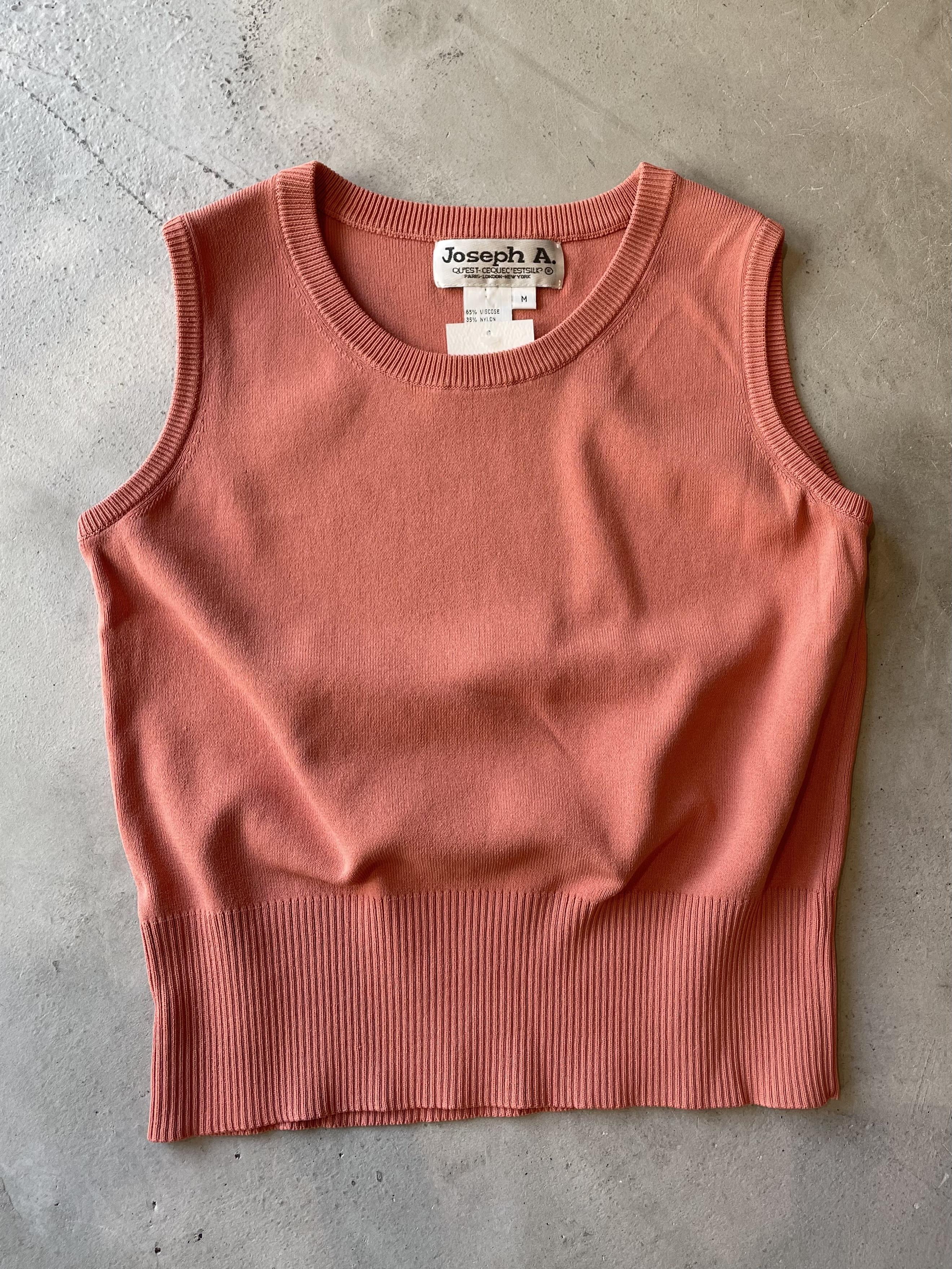 vintage pink knit tops
