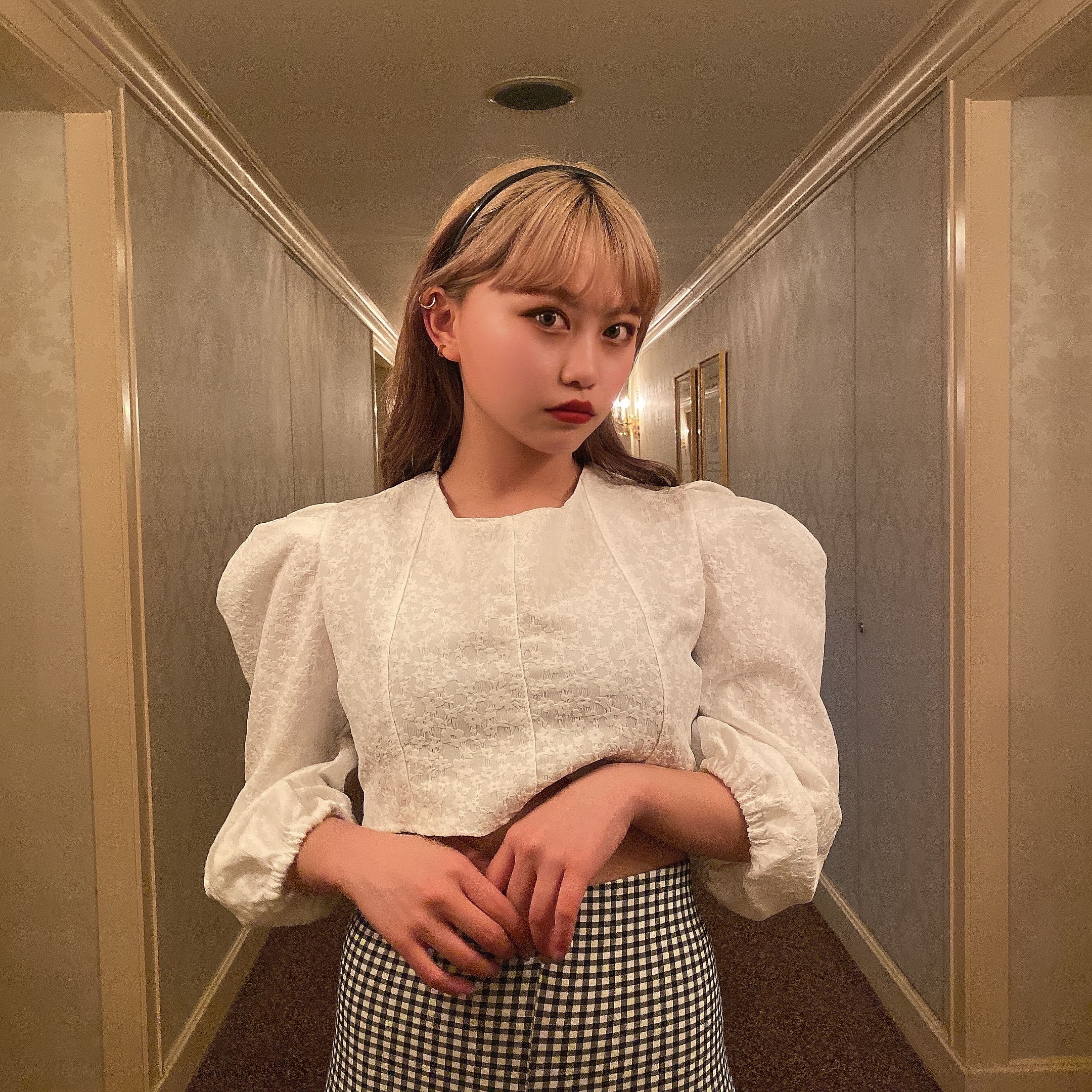 【Belle jour】mini flower blouse