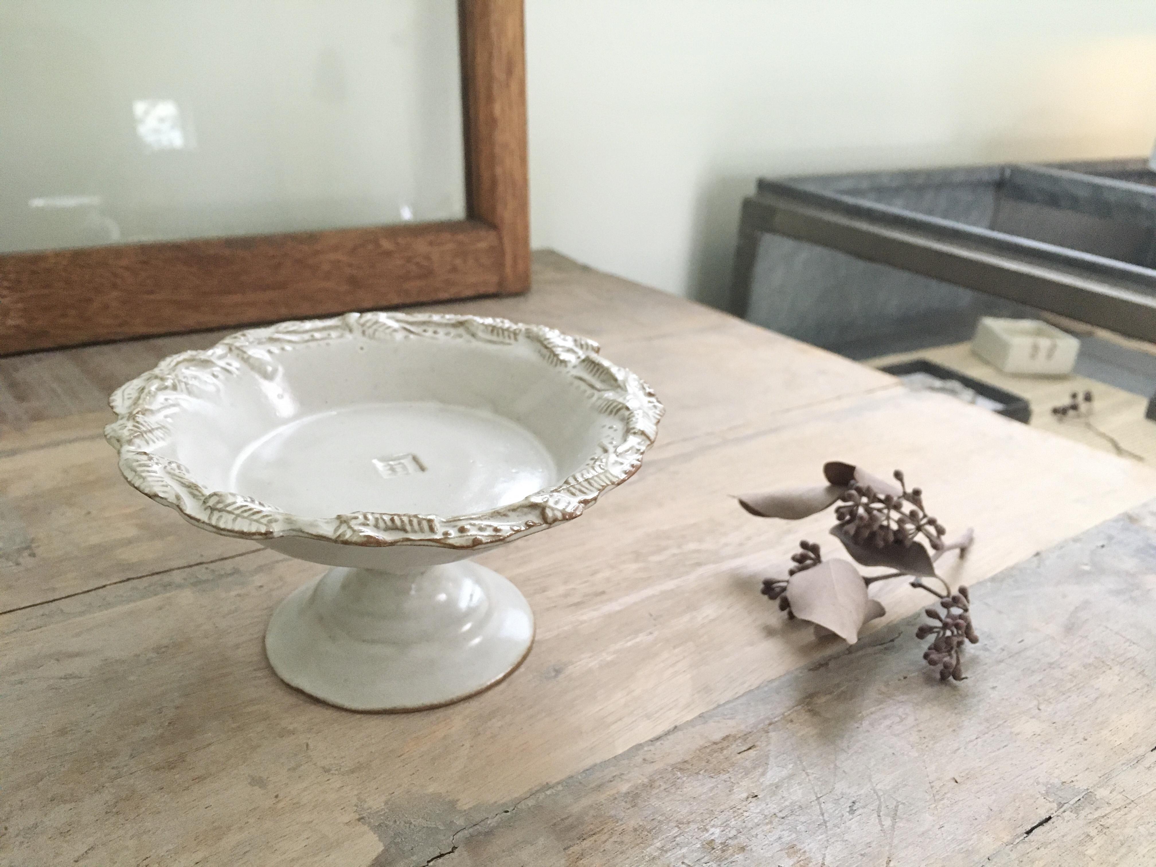 キエリ舎 ミモザのリースのプリン皿