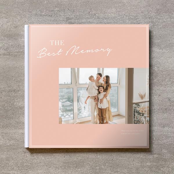 Simple pink-FAMILY_A4スクエア_6ページ/6カット_クラシックアルバム(アクリルカバー)