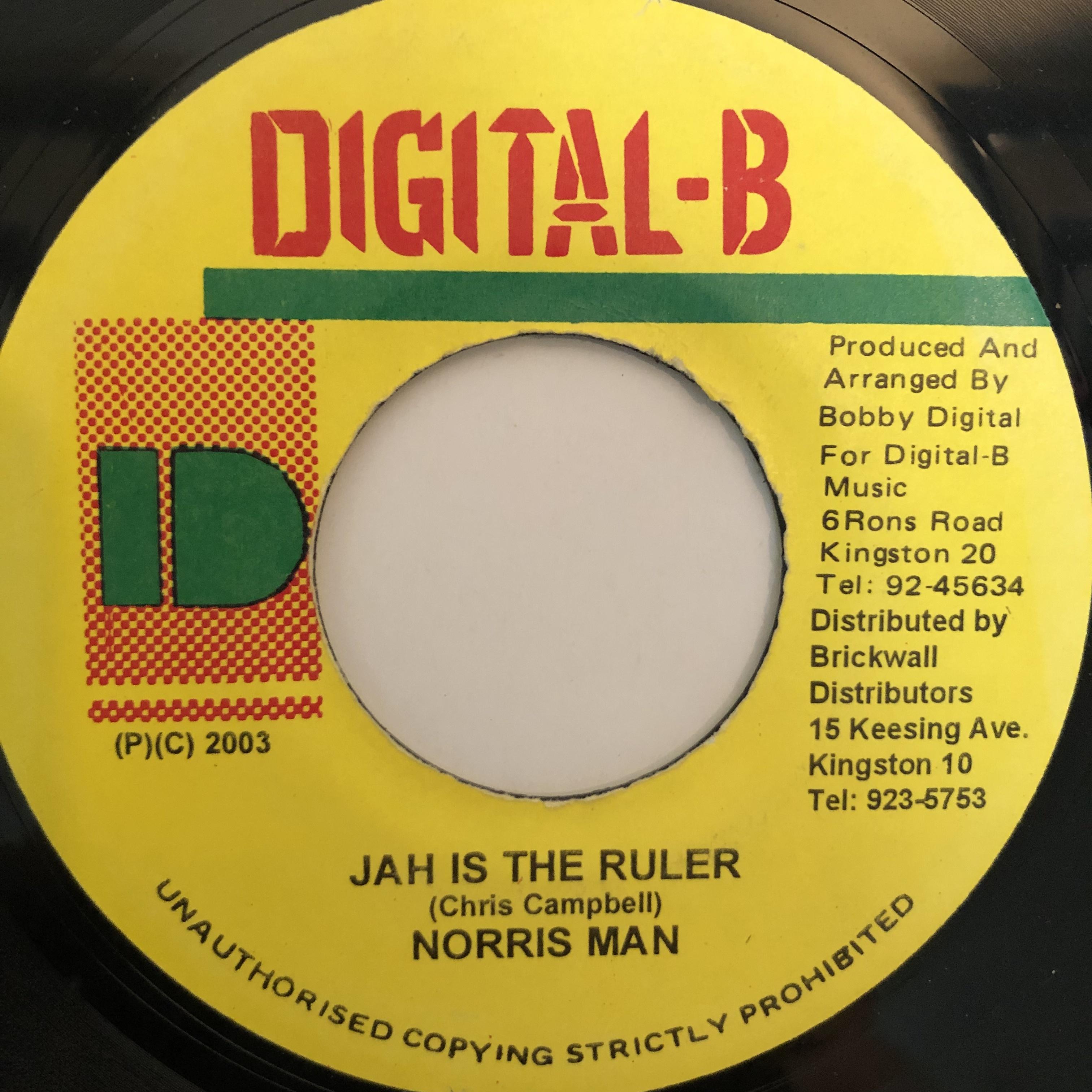 Norris Man(ノリスマン) - Jah Is The Ruler【7-20274】