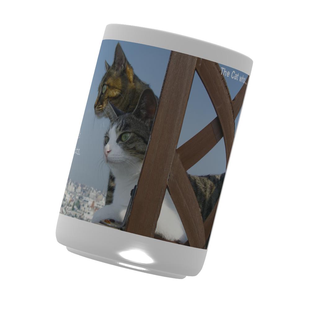 湯のみ(M) 直径7.1x高さ9.6(cm) 猫のアイシス&ジェリー (The Cat who.... ザ キャット フー 猫 ねこ)