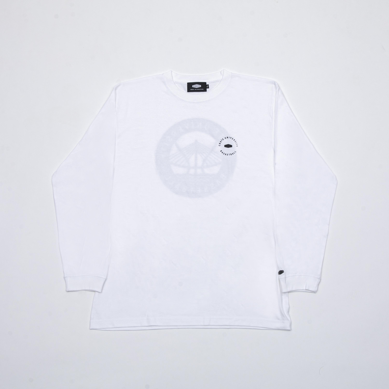 CRATE UNIVERSITY LOGO L/S T-SHIRTS WHITE