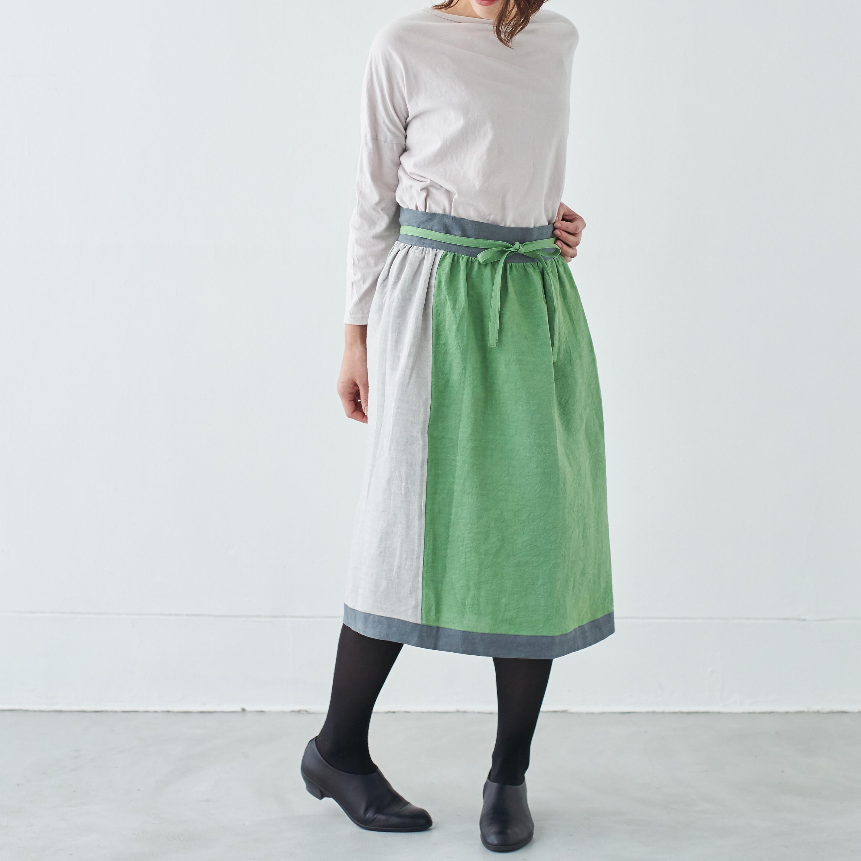 エプロンスカート apron skirt / リネン linen