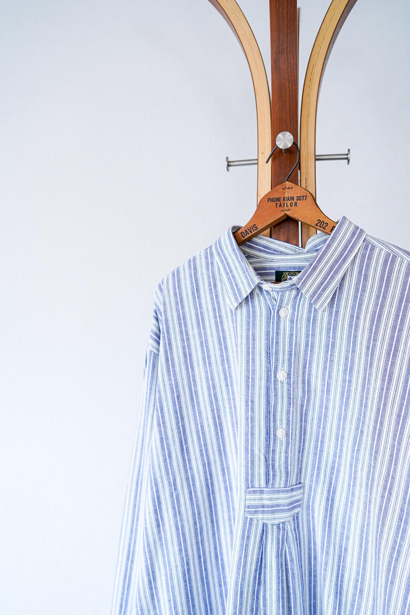 "【1960s】""Netherland Made"" Euro Vintage Grandpa Shirts / v638"