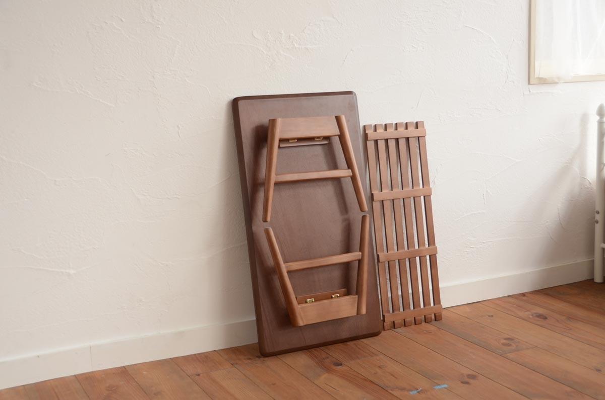 Square / Walnut Folder Low Table / 北欧アンティークスタイル スクエア / ウォールナット 折り畳みローテーブル