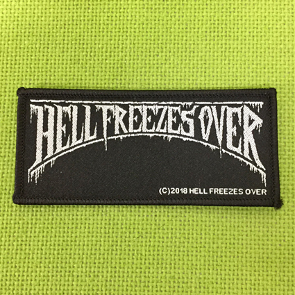 HELL FREEZES OVER ロゴ刺繍パッチ