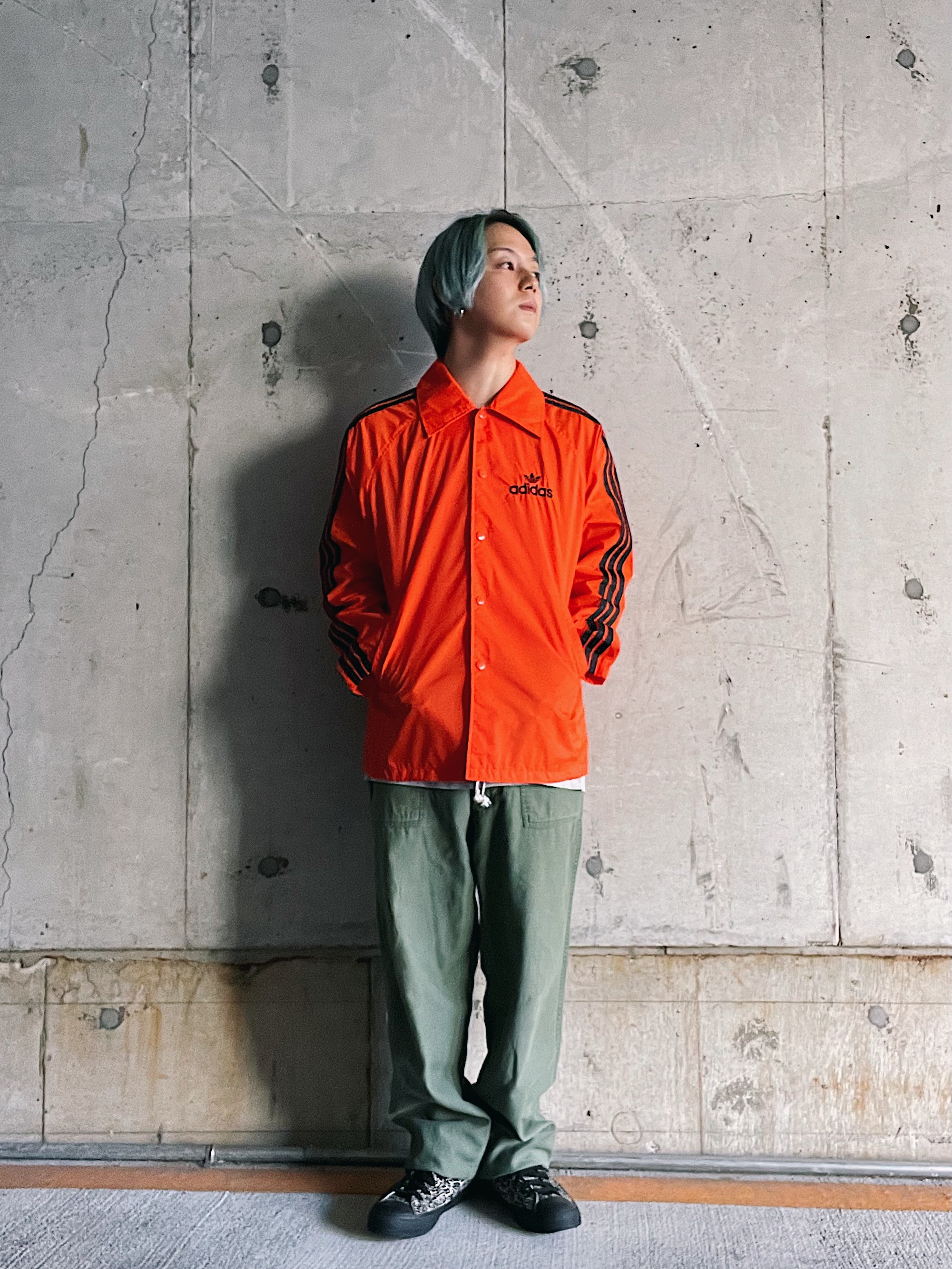 (OT051)80's adidas nylon coach jacket