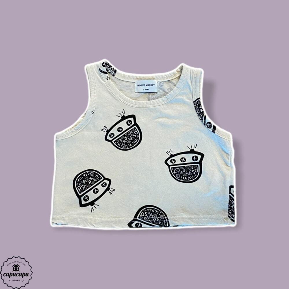 «sold out» mini ps market  UFO sleeveless プリントノースリーブ