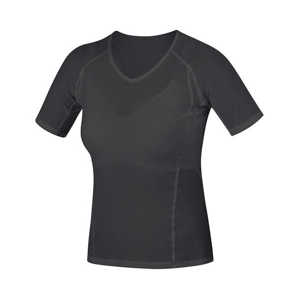 GORE(ゴア) ウィメンズ BASE LAYER SHIRT M ベース レイヤー シャツ  BLACK(ブラック)1000149900