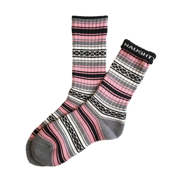 """""""FALSA -pink-"""" Socks (limited edition by NAUGHTY)"""