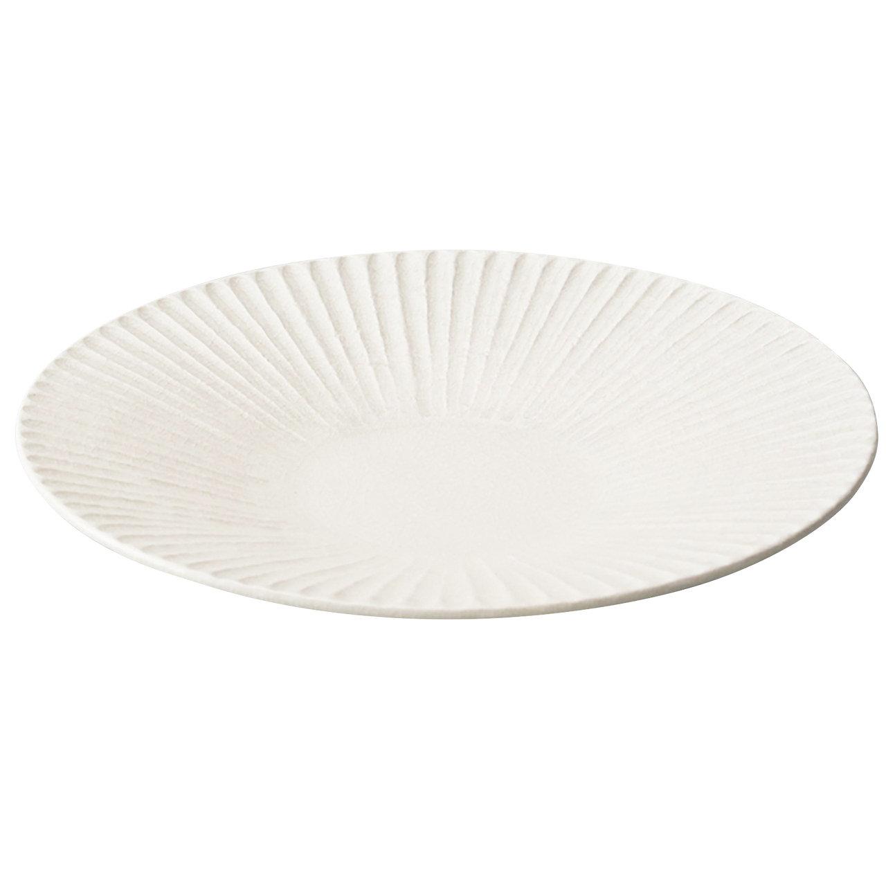瀬戸焼 伍春窯 そぎ SOGI カレー皿 パスタ皿 プレート 8.5寸 約26cm 白 127-0407