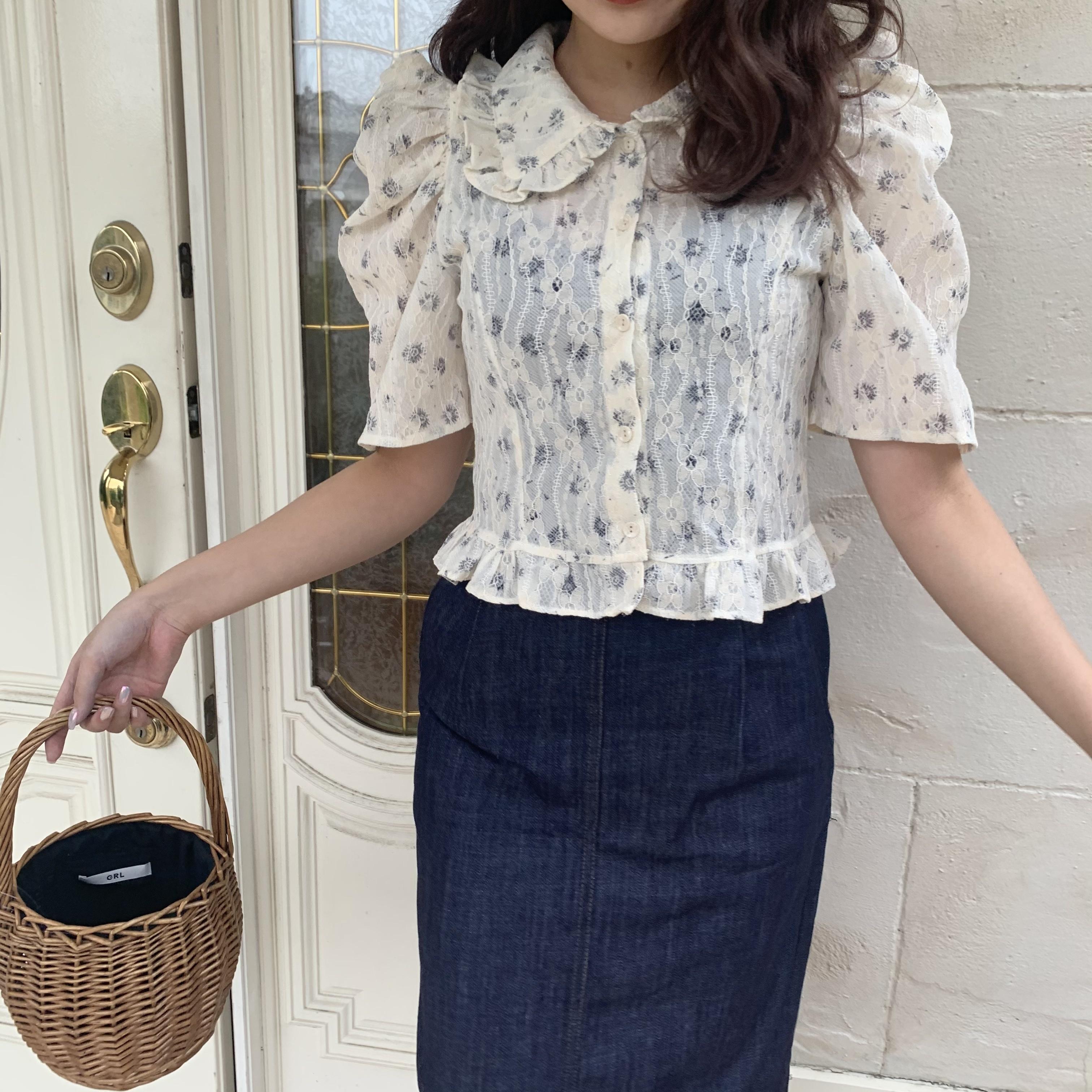 straight denim skirt