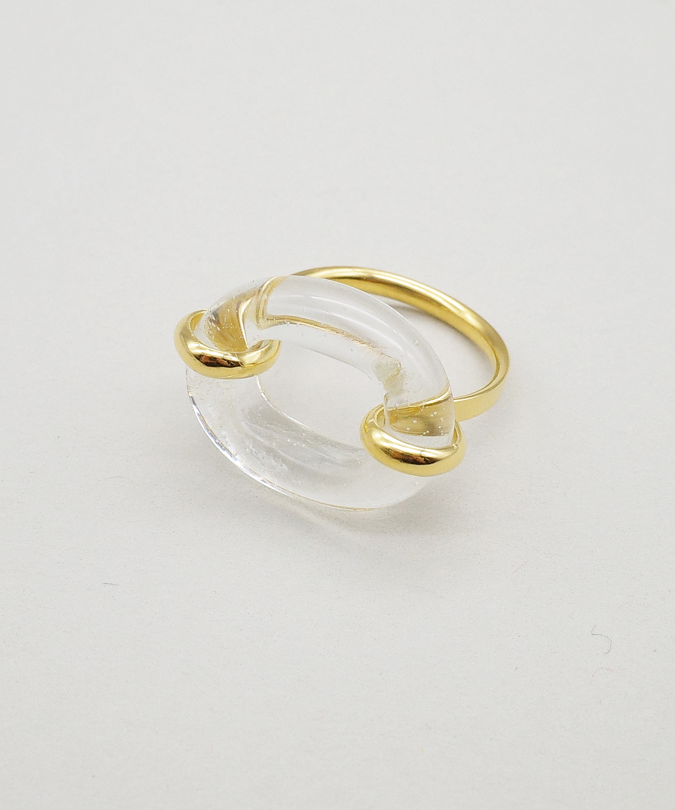 【CLED / クレッド】IN THE LOOP Ring / リング / 14K Gold Filled×Clear Air
