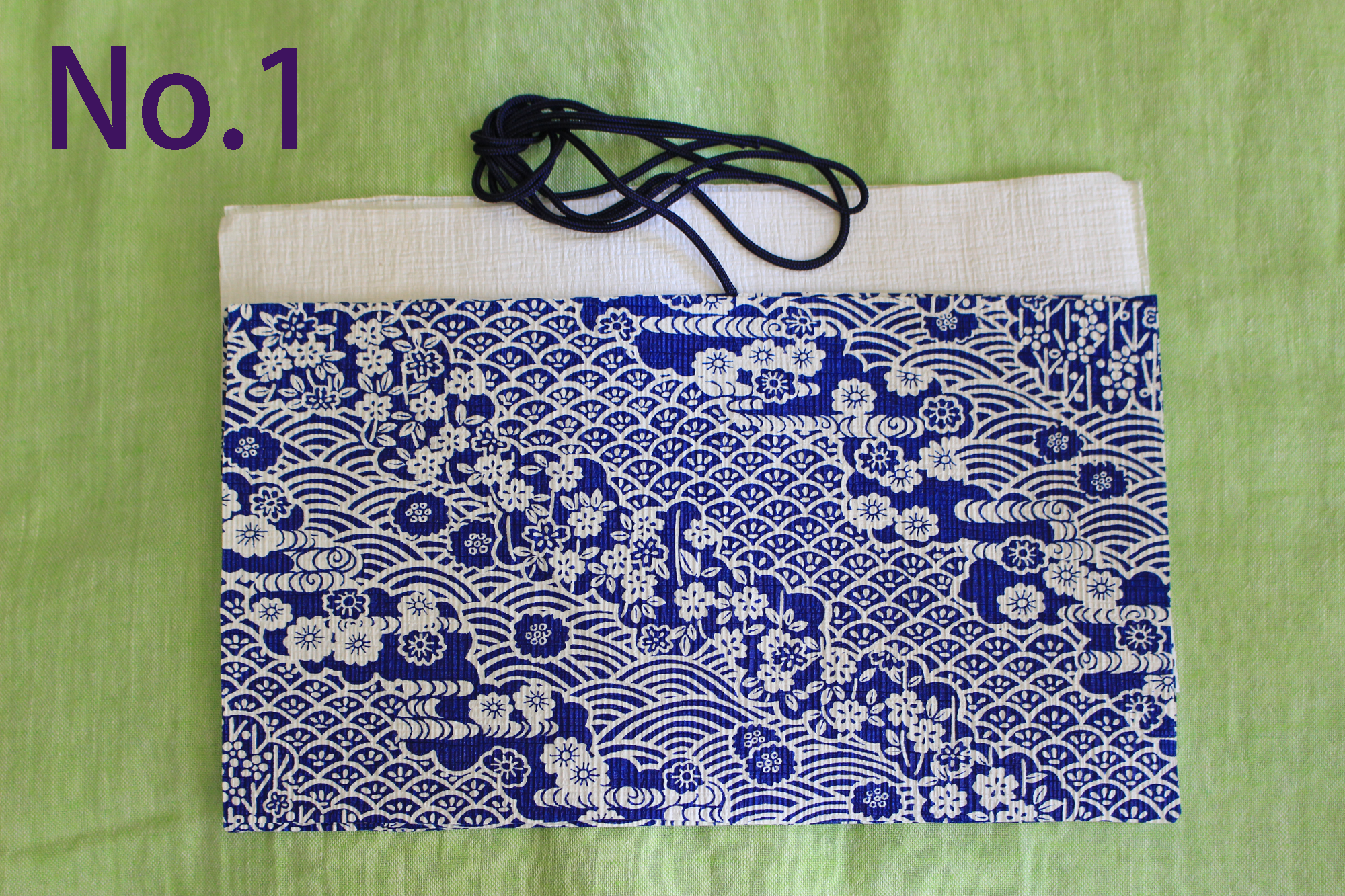 【オンラインワークショップ】初めての人でも作れる和紙の縫わないミニ巾着袋
