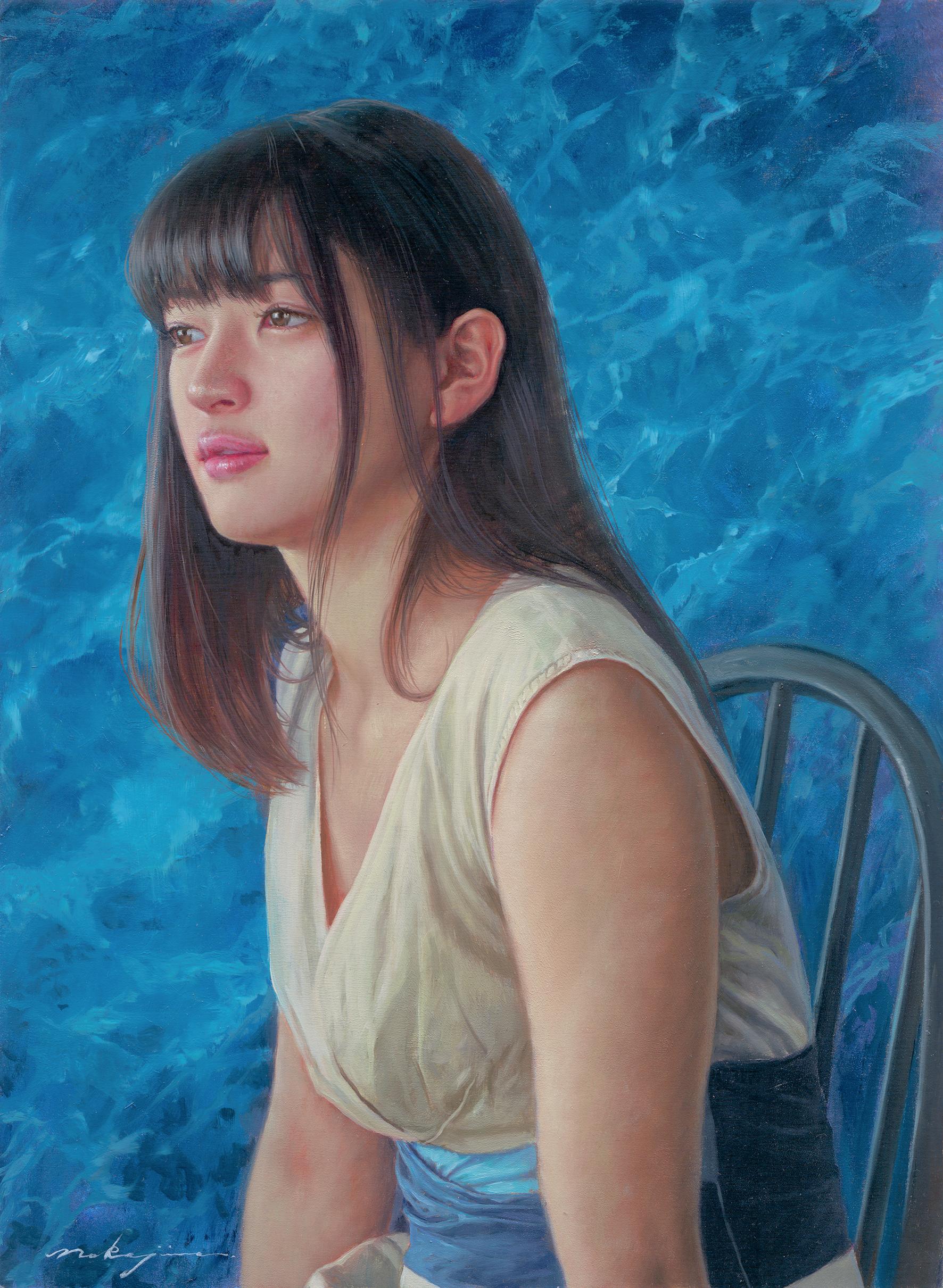 「marble×marble -blue ocean-」原画作品(1点もの)8号p