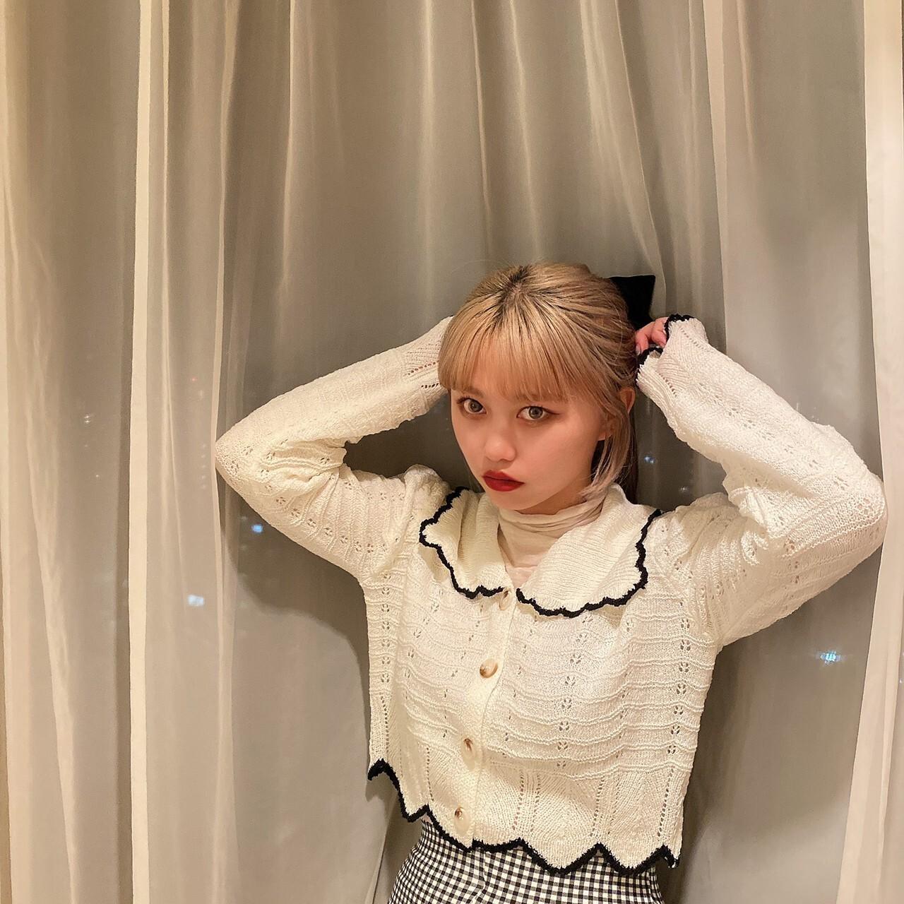 【Belle】frill collar cardigan / ivory