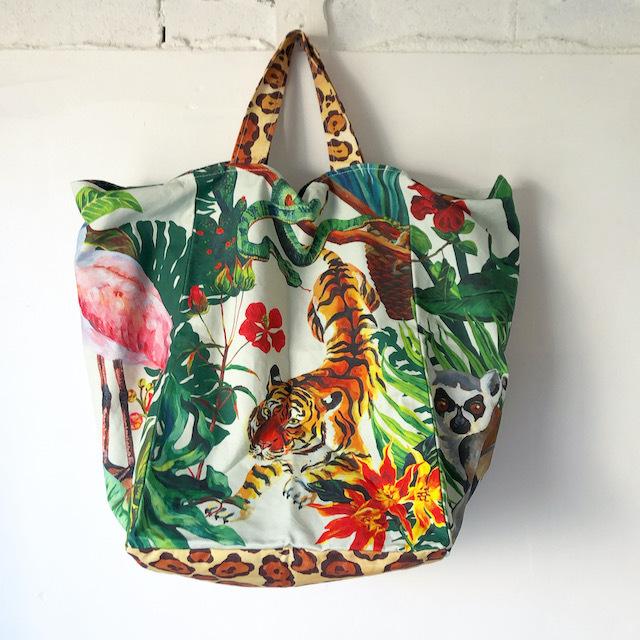 "Nathalie Lete ""Jungle  Market Bag"" ナタリーレテ ジャングル マーケットバッグ ビッグトート"