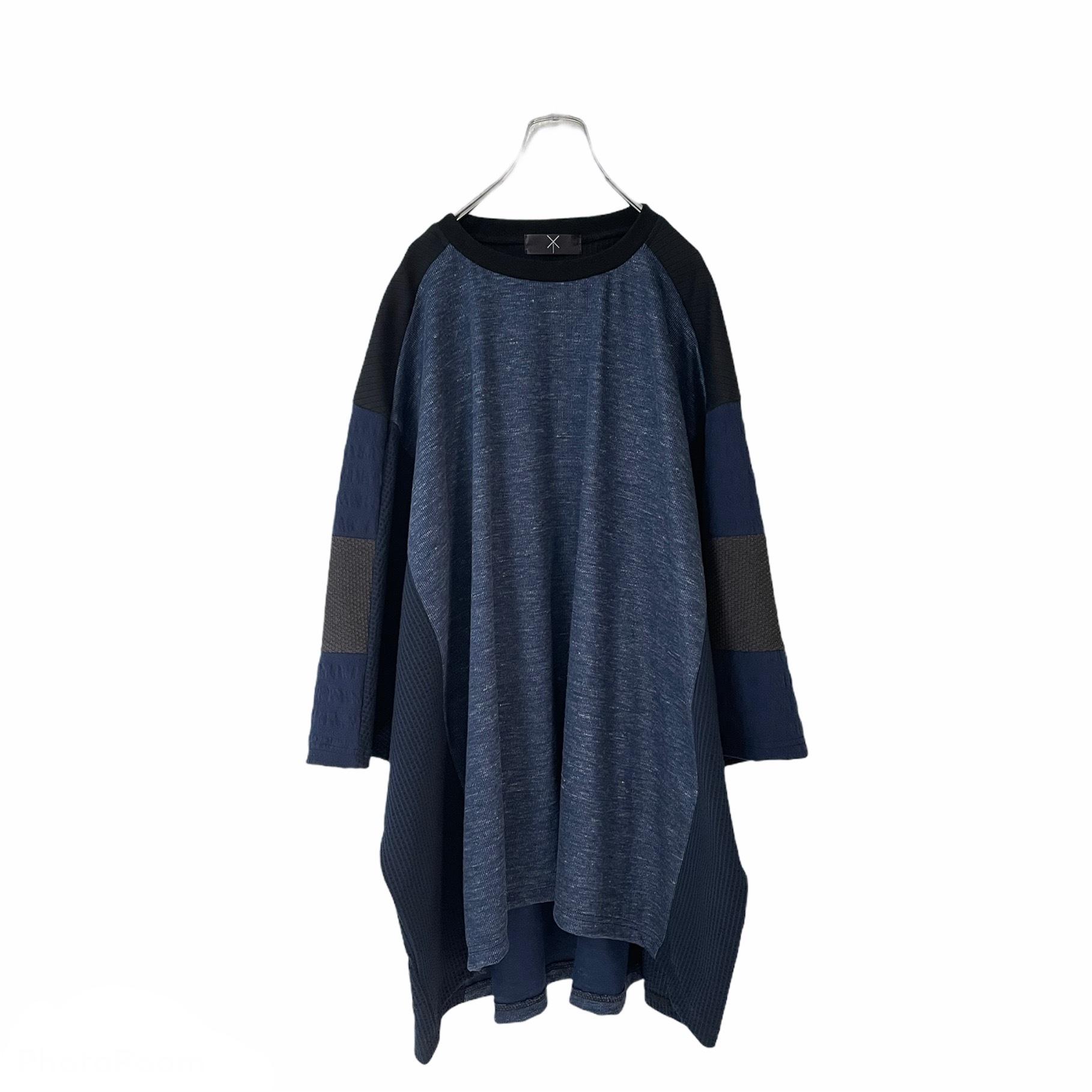 Wide-T-shirts Short (navy)