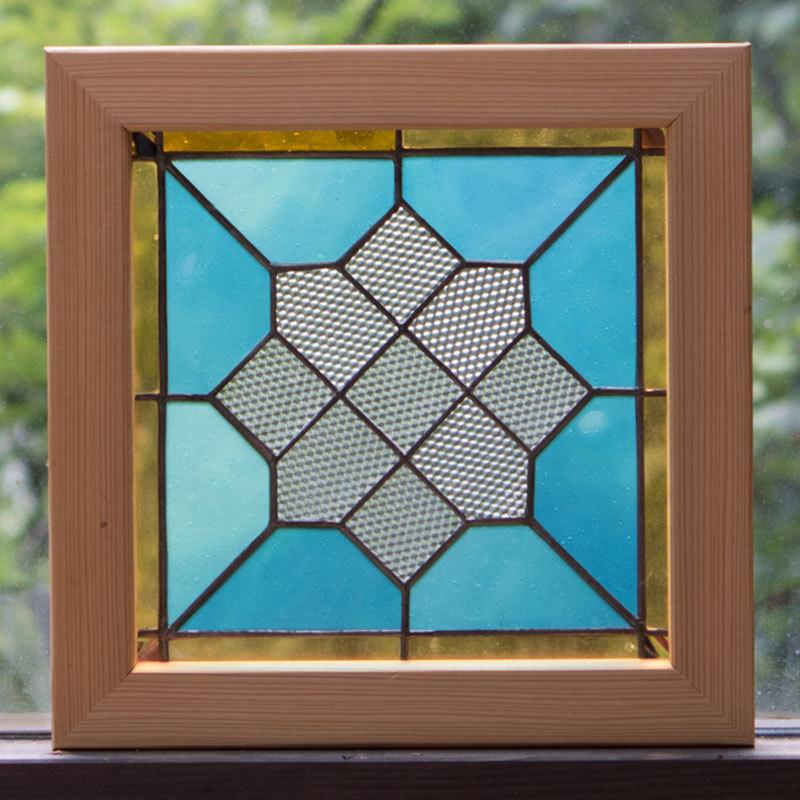 スカイクリスタル(ステングラスのアートパネル) 03050108
