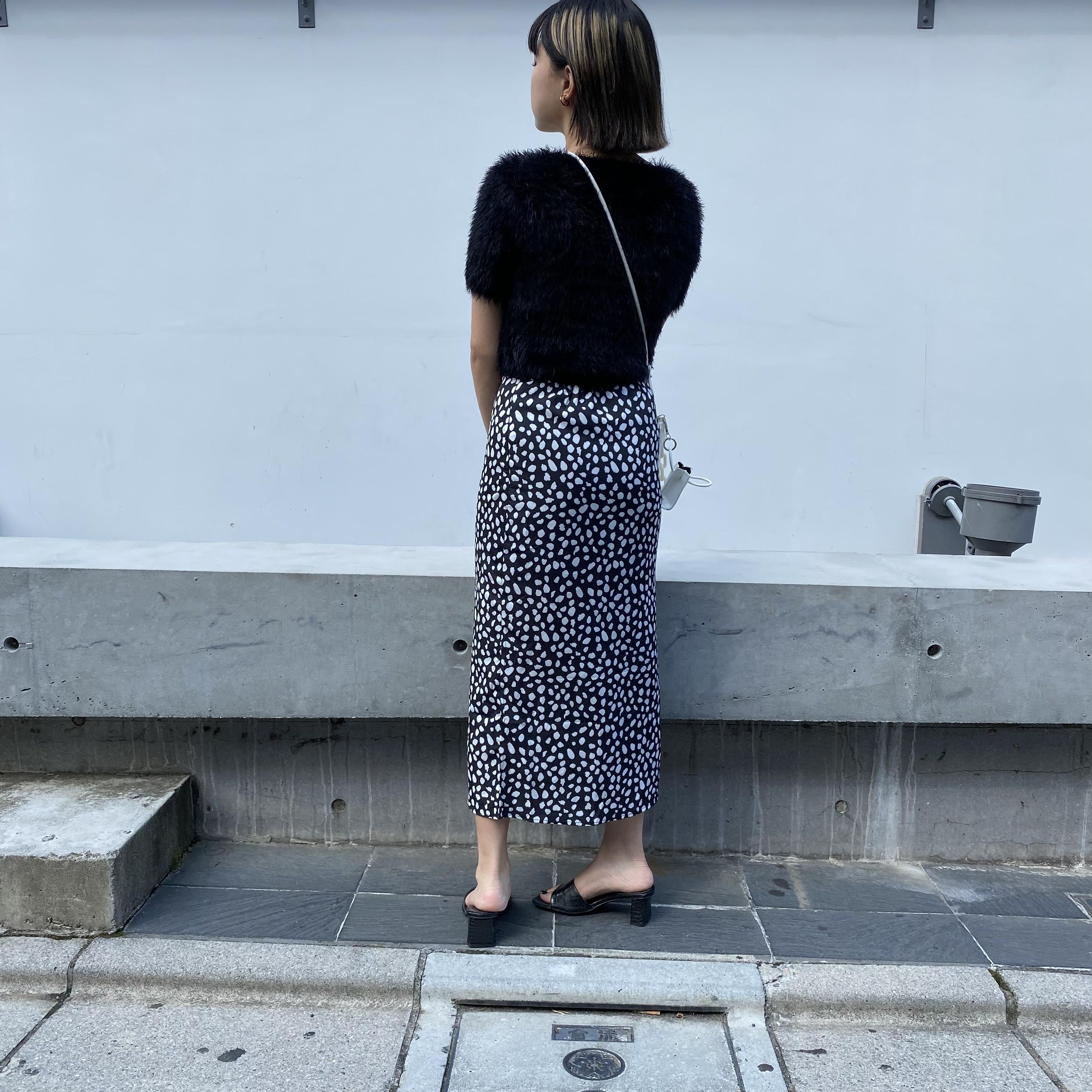 【Belle】leopard frill skirt / black